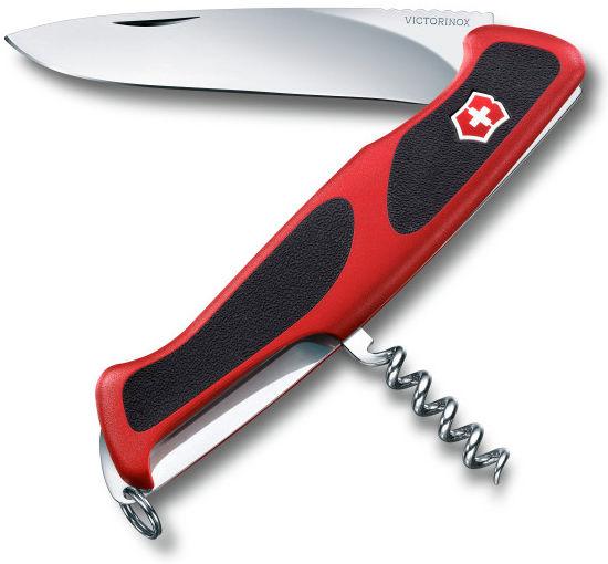 Складной нож VICTORINOX RangerGrip 52, 5 функций,  130мм, красный  / черный [0.9523.c]