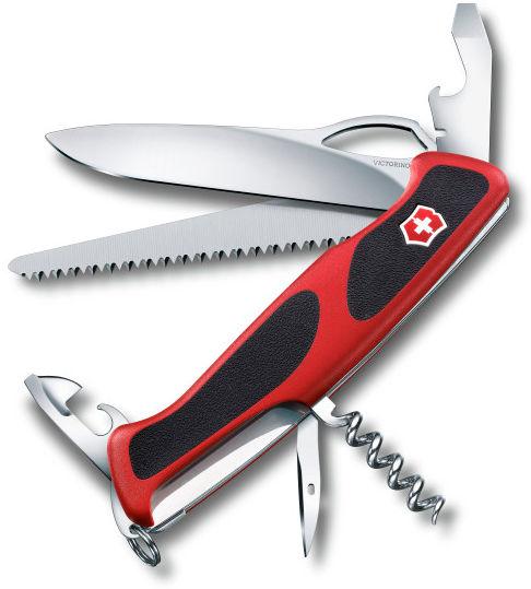 Складной нож VICTORINOX RangerGrip 79, 12 функций,  130мм, красный  / черный [0.9563.mc]