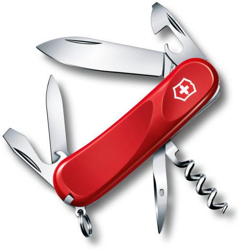Складной нож VICTORINOX Evolution 10, 14 функций,  85мм, красный  [2.3803.e]