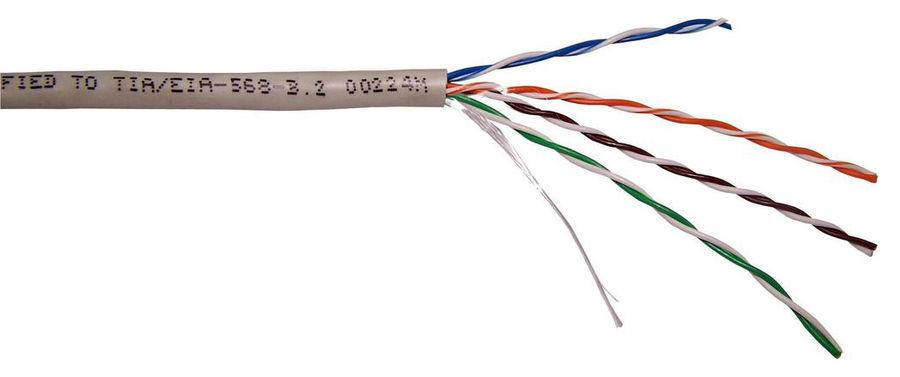 Кабель информ. Lanmaster (TWT-5EUTP-LSZH) кат.5е U/UTP 4X2X24AWG LSZH внутр. 305м бел.