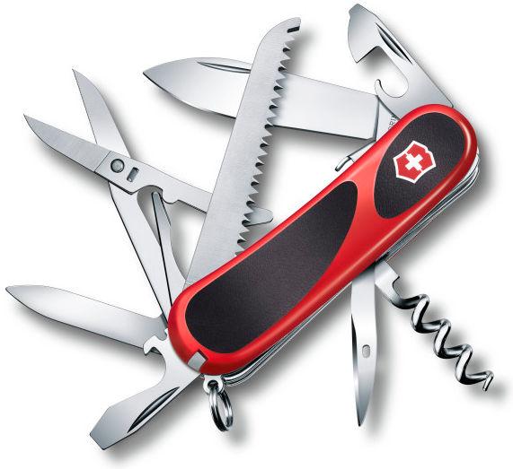 Нож перочинный Victorinox EvoGrip S17 (2.3913.SC) 85мм 15функций красный/черный карт.коробка