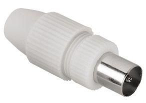 Штекер антенный HAMA Coax (m)  -  белый [00122475]