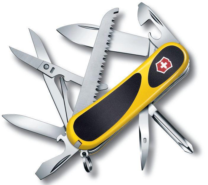 Складной нож VICTORINOX EvoGrip 18, 15 функций,  85мм, желтый  / черный [2.4913.c8]