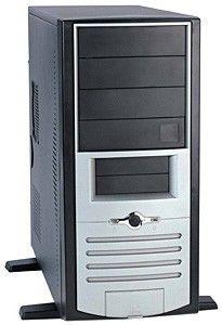 Корпус ATX FOXCONN TH-001, 500Вт,  серебристый и черный