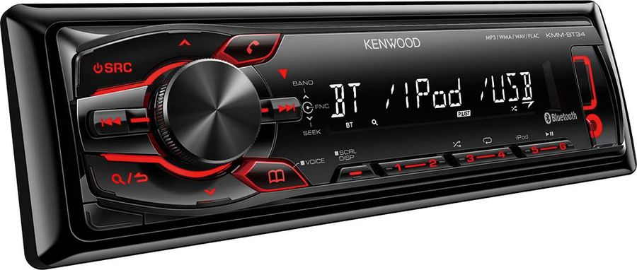 Автомагнитола KENWOOD KMM-BT34,  USB