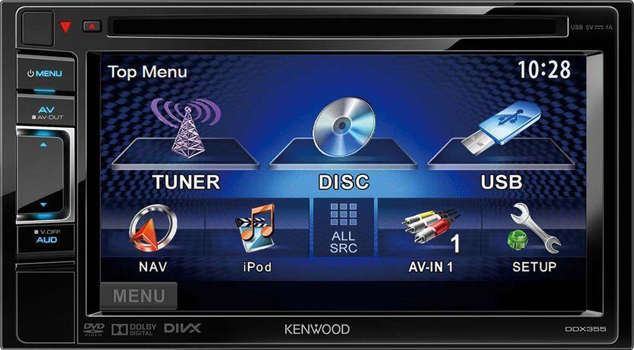 Автомагнитола KENWOOD DDX-355,  USB