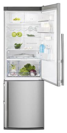 Холодильник ELECTROLUX EN 3487 AOX,  двухкамерный,  серебристый [en3487aox]