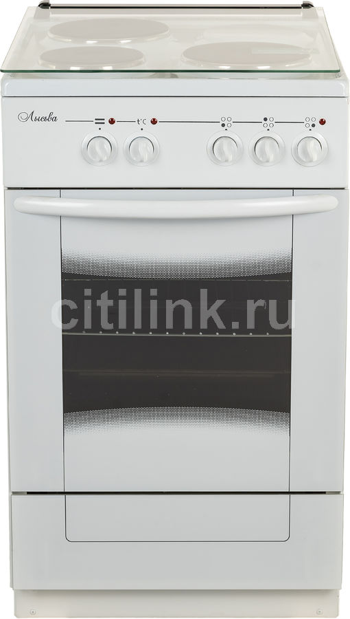 Электрическая плита ЛЫСЬВА ЭП 301 М2С,  эмаль,  стеклянная крышка,  белый