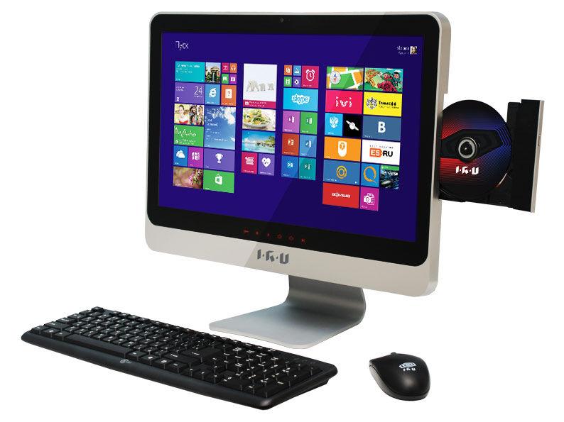 Моноблок IRU 320, Intel Core i5 3230M, 4Гб, 320Гб, Intel HD Graphics, DVD-RW, Windows 8.1 Professional, черный
