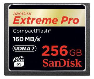 Карта памяти CF SANDISK Extreme Pro 256 ГБ, 160 МБ/с, SDCFXPS-256G-X46,  1 шт.
