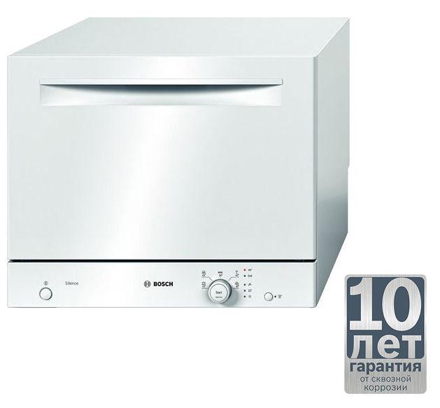 Посудомоечная машина BOSCH SKS 40E22 RU,  компактная, белая [sks40e22ru]