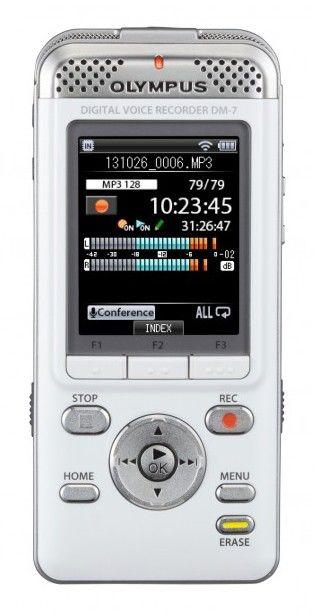 Диктофон OLYMPUS DM-7 4 Gb,  белый