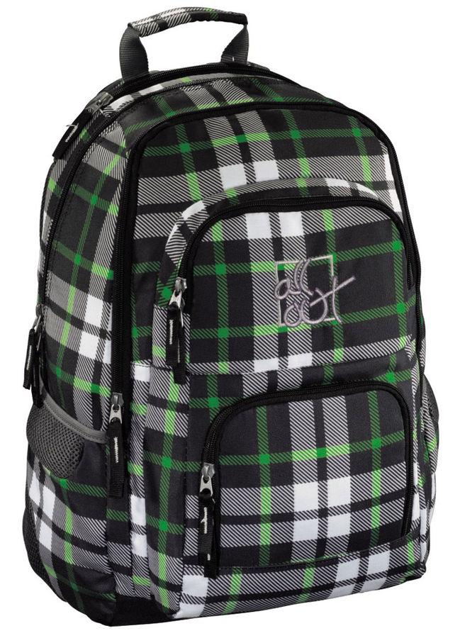 Рюкзак All Out Louth Forest Check серый/зеленый Клетка [00129227]