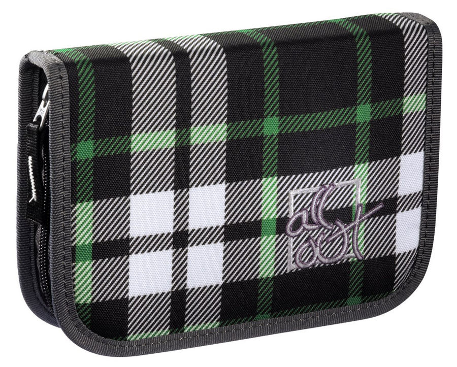 Пенал All Out Plymouth Forest Check серый/зеленый/черный [00129230]