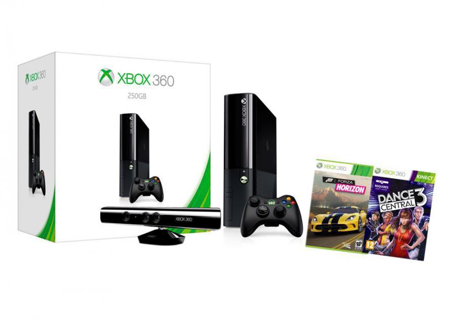 Игровая консоль MICROSOFT Xbox 360 S7G-00148+52K-00160, черный