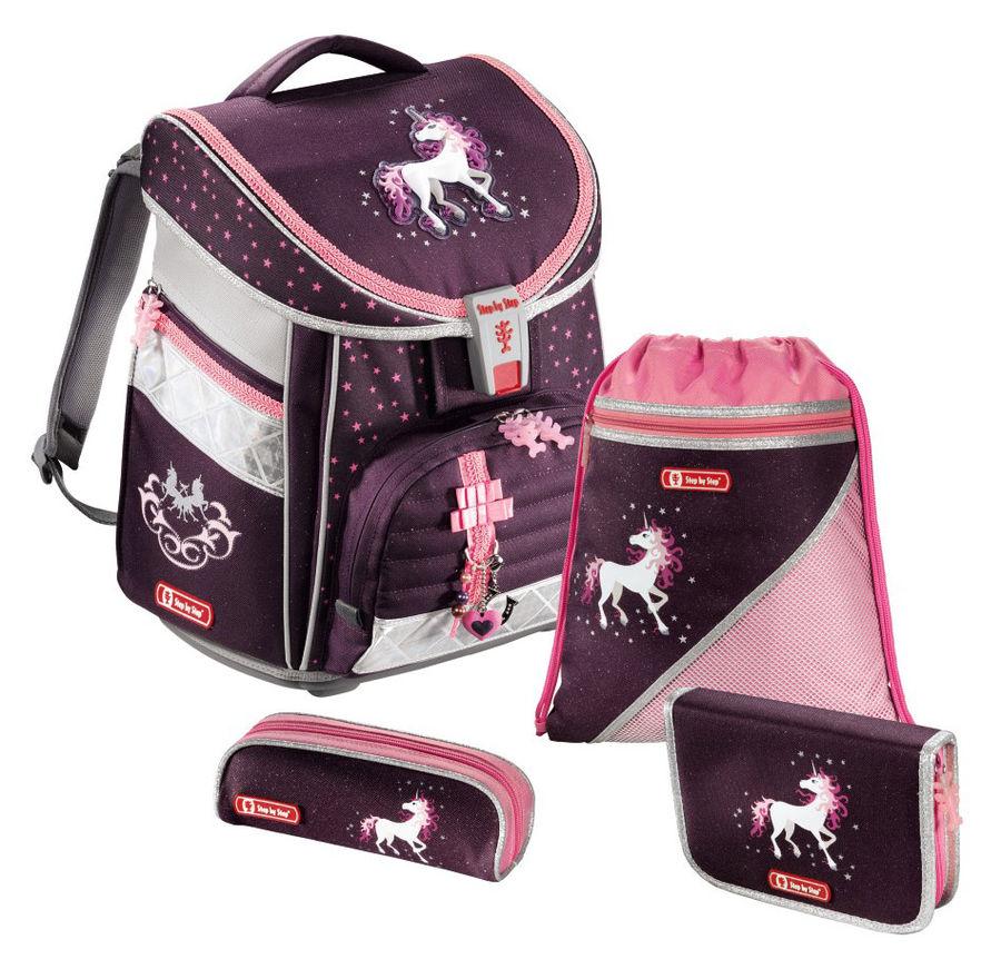 Ранец Step By Step Comfort Unicorn фиолетовый/розовый пони 4 предмета [00129092]