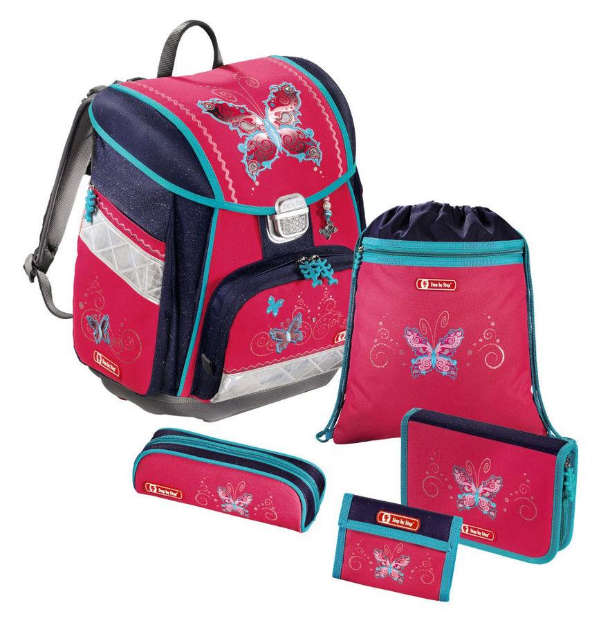 Ранец Step By Step Touch Butterfly Dancer розовый/синий бабочки 5 предметов [00129071]
