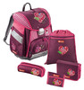 Ранец Step By Step Touch Tweedy Hearts розовый/рисунок сердце 5 предметов [00129086] вид 1