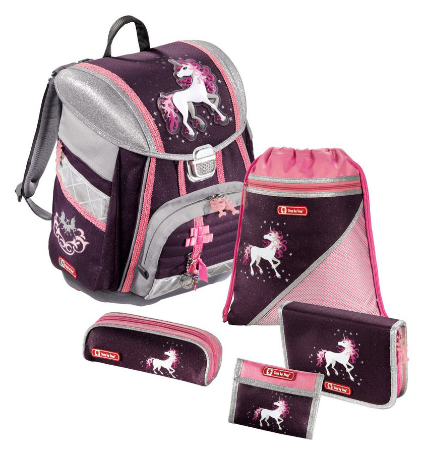 Ранец Step By Step Touch Unicorn фиолетовый/розовый Пони 5 предметов
