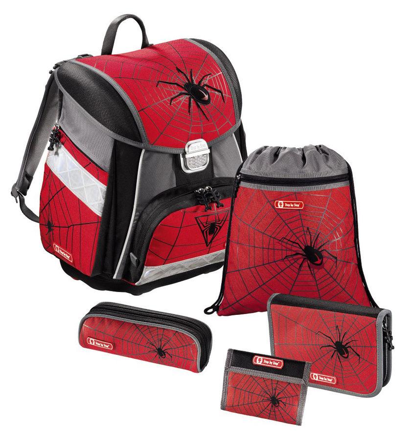 Ранец Step By Step Touch Black Widow красный/серый паук 5 предметов [00129095]