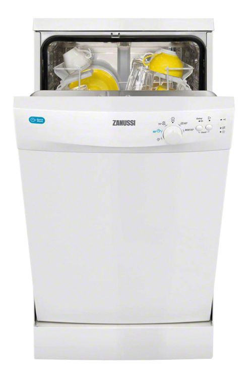 Посудомоечная машина ZANUSSI ZDS91200WA,  узкая, белая