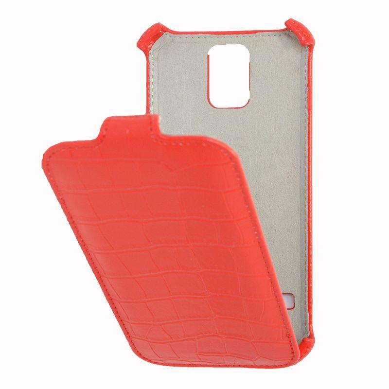 Чехол (флип-кейс) ARMOR-X flip Crocodile, для Samsung Galaxy S5, красный