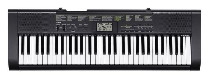 Синтезатор CASIO CTK-1150, 61, невзвешенная, полноразмерные, 12, черный [ctk-1150 + бп]