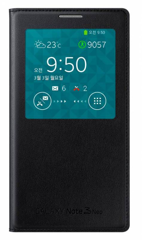 Чехол-книжка SAMSUNG S View Cover (EF-CN750BBEGRU), для Samsung Galaxy Note 3 Neo, черный