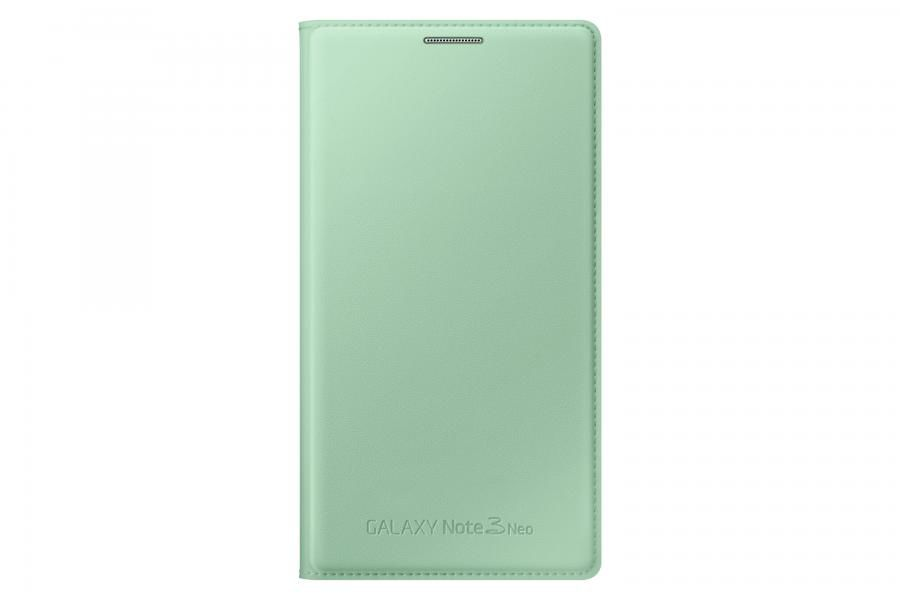 Чехол (флип-кейс) SAMSUNG Flip Wallet, для Samsung Galaxy Note 3 Neo, светло-зеленый [ef-wn750bmegru]