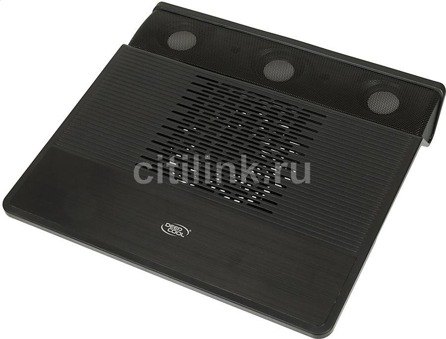 """Подставка для ноутбука Deepcool M3 (M3BLACK) 15.6""""360x327x54мм 21дБ 2xUSB 1x 140ммFAN 1100г черный"""