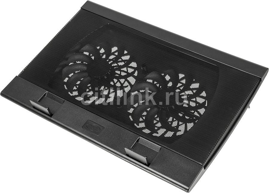 """Подставка для ноутбука Deepcool WIND PAL (WINDPAL) 17""""382x262x24мм 27дБ 4xUSB 2x 140ммFAN 793г черны"""