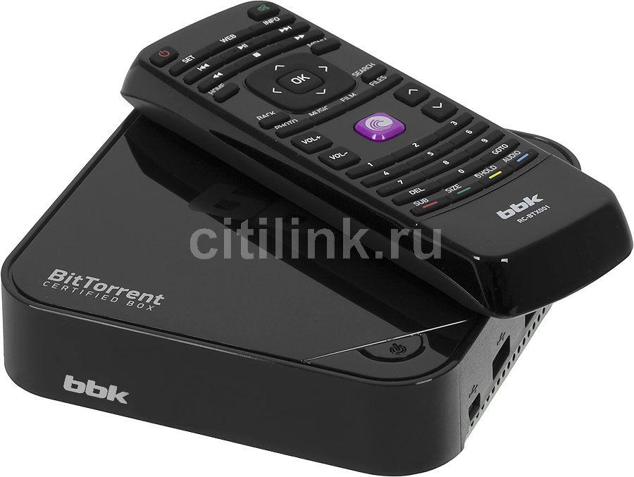 Медиаплеер BBK BTX001,  черный
