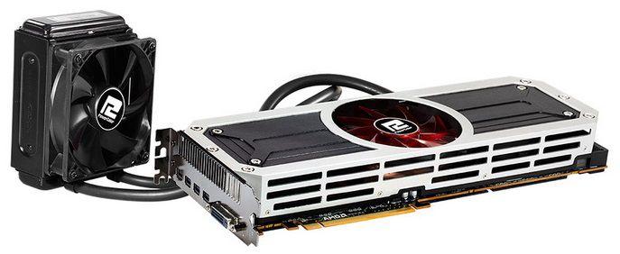Видеокарта POWERCOLOR Radeon R9 295X2,  8Гб, GDDR5, Ret [axr9 295x2 8gbd5-m4d]