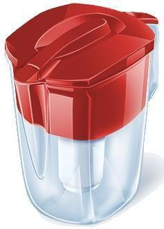 Фильтр для воды АКВАФОР Гарри + доп.модуль,  красный,  3.9л