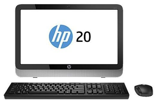 Моноблок HP Pavilion 20-2001er, Intel Pentium J2900, 4Гб, 500Гб, DVD-RW, Windows 8.1 Emerging Markets [f9q85ea]