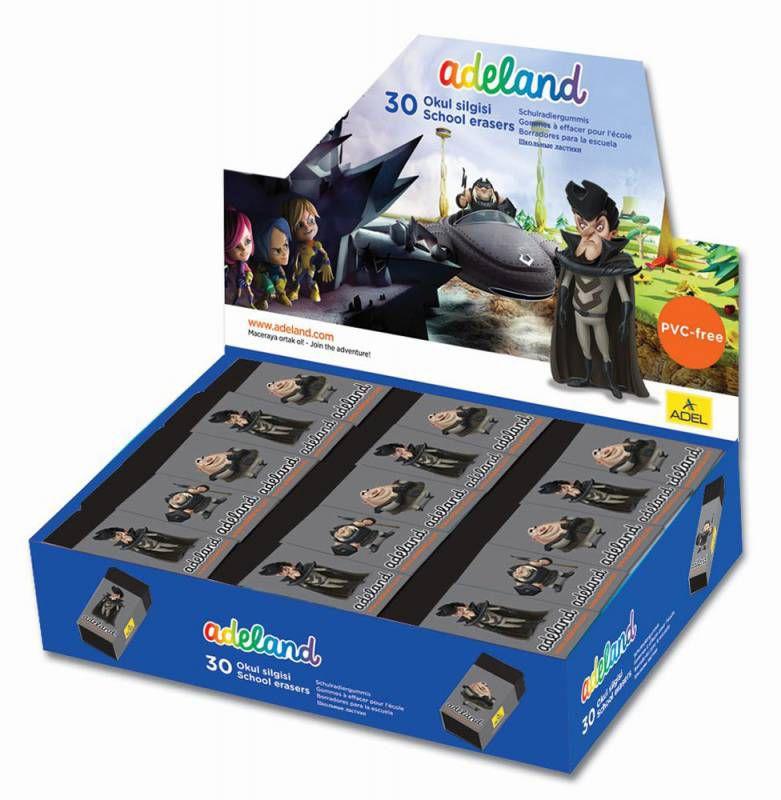 Ластик Adel ADELAND GRANOTER 227-0718-150 60x22x12мм черный индивидуальная картонная упаковка + плен