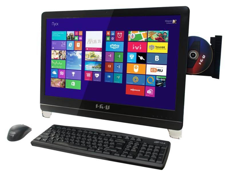 Моноблок IRU 116, Intel Celeron G1610, 4Гб, 500Гб, Intel HD Graphics, DVD-RW, Windows 7 Professional, черный
