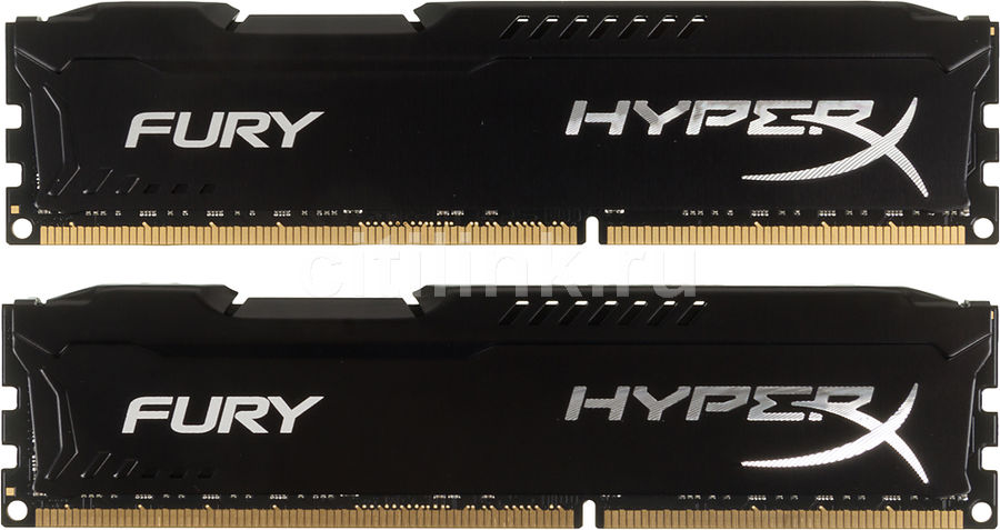 Модуль памяти KINGSTON HyperX FURY Black Series HX316C10FBK2/16 DDR3 -  2x 8Гб 1600, DIMM,  Ret