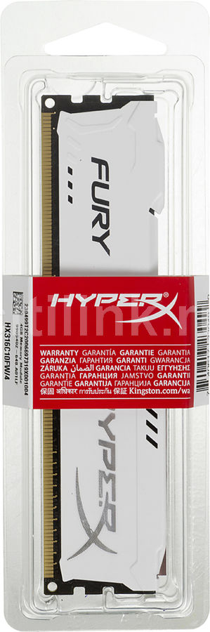 Модуль памяти KINGSTON HyperX FURY HX316C10FW/4 DDR3 - 4Гб 1600, DIMM, Ret цена