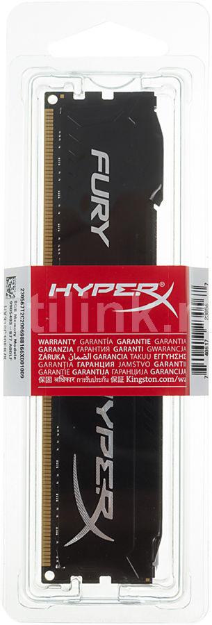 Модуль памяти KINGSTON HyperX FURY Black Series HX318C10FB/8 DDR3 -  8Гб 1866, DIMM,  Ret