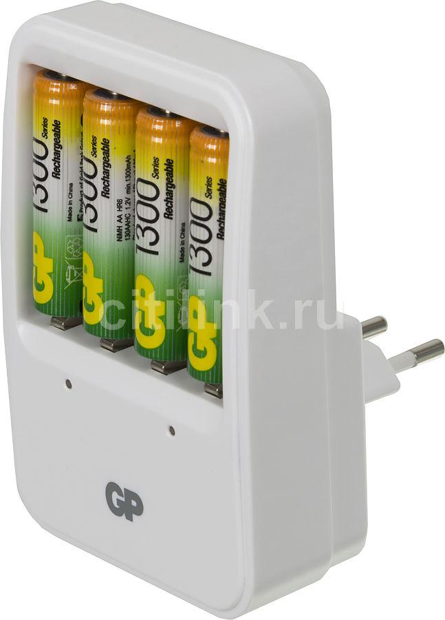 Аккумулятор + зарядное устройство GP PowerBank PB420GS130,  4 шт. AA,  1300мAч
