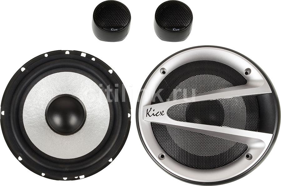 Колонки автомобильные KICX RTS 6.2,  компонентные,  100Вт
