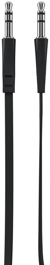 Кабель аудио VERTEX AUXBL,  Jack 3.5 (m)  -  Jack 3.5 (m) ,  1м, FLAT черный