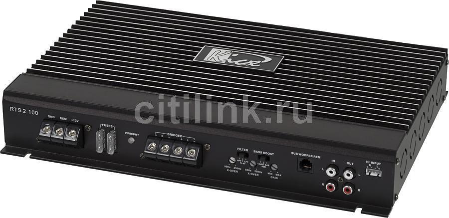 Усилитель автомобильный KICX RTS 2.100,  черный