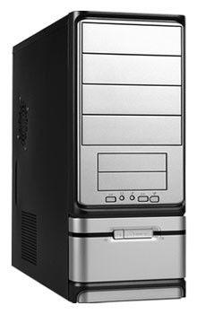 Корпус ATX LINKWORLD 316-13, 430Вт,  черный и серебристый