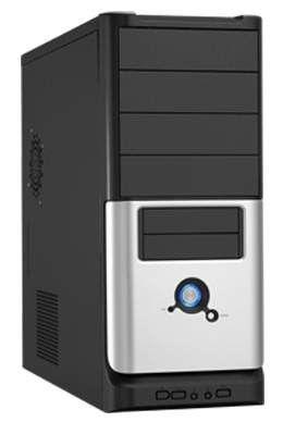 Корпус ATX LINKWORLD 316-15, 430Вт,  черный и серебристый