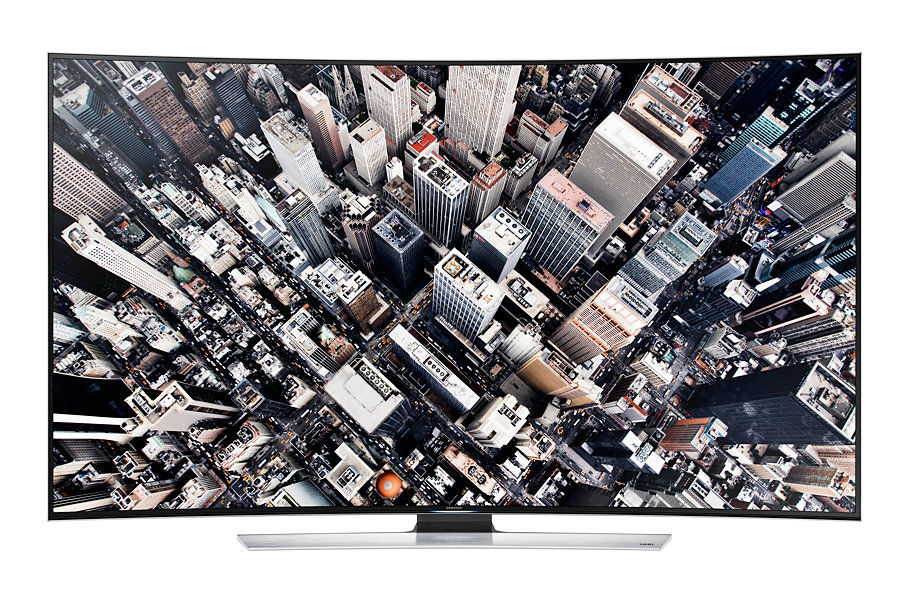 "LED телевизор SAMSUNG UE55HU9000TX  ""R"", 55"", 3D,  Ultra HD 4K (2160p),  черный"