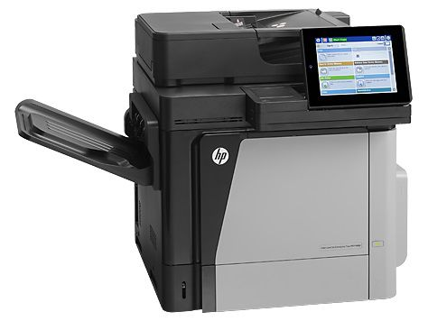 МФУ HP Color LaserJet Enterprise Flow M680dn, A4, цветной, лазерный, серый [cz248a] принтер hp color laserjet enterprise m652dn