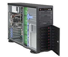 Корпус SuperMicro CSE-743TQ-865B Midi-Tower 865W черный