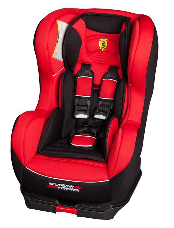 Автокресло детское NANIA Cosmo SP Isofix (rosso) Ferrari, 0+/1, черный/красный [096238, 098179]